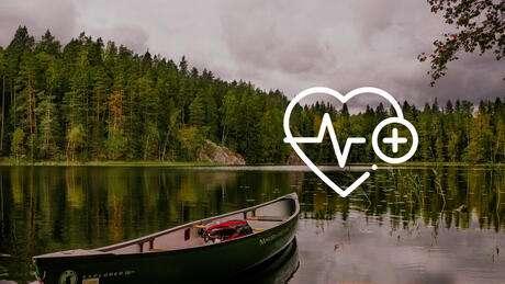 Sisäjärvi ja piirretty sydän